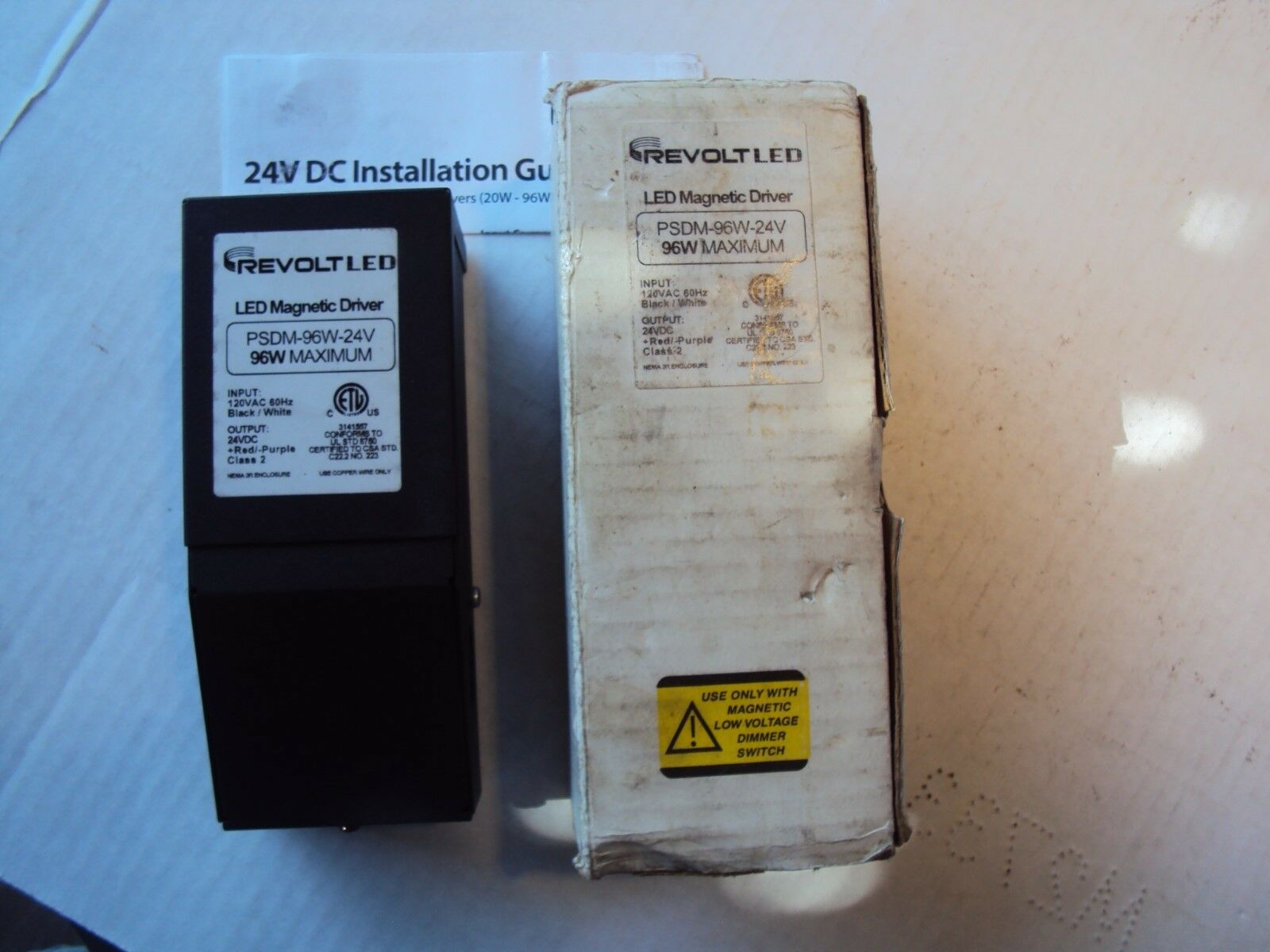 REVOLTLED  PSDM-96W-24V 96 W Maximum LED Magnetic Driver