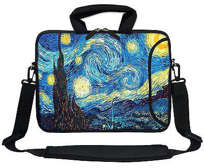 """17.3/"""" 17/"""" Neoprene Laptop Bag Sleeve with Pocket Shoulder Strap Handle 3009"""