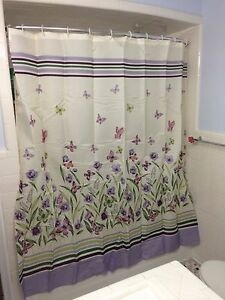 Botanical Erfly Garden Purple Green, Purple And Green Bathroom Decor