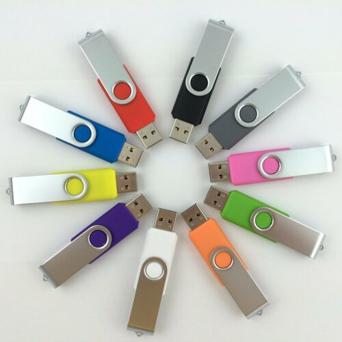 Bulk Lot 50pc Swivel 1//2//4//8GB USB Flash Drive Memory Stick Logo Promotion Gifts