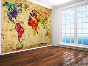 Details about Vintage World Map, Colorful paint, Retro photo Wallpaper on map mural room, pirate map mural, map wallpaper, map wall house, nashville mural, map wall art, map wall decal, map wall lighting, antique map mural, us patriotic mural, historic victorian wallpaper mural, map home decor, map wall stencil, map facebook covers, new york skyline wallpaper mural, noah's ark mural, create a mural, old mural, map wall mirror, map wall graphics,