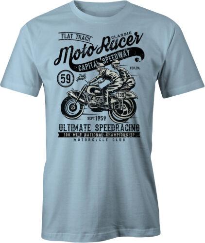 Speedway. Vintage Moto Racer Retro Motorbike T Shirt