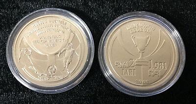 "GEORGIA 2 LARI 1981 /""DINAMO TBILISI SOCCER TEAM /"" 2006 PROOF COIN UNC"