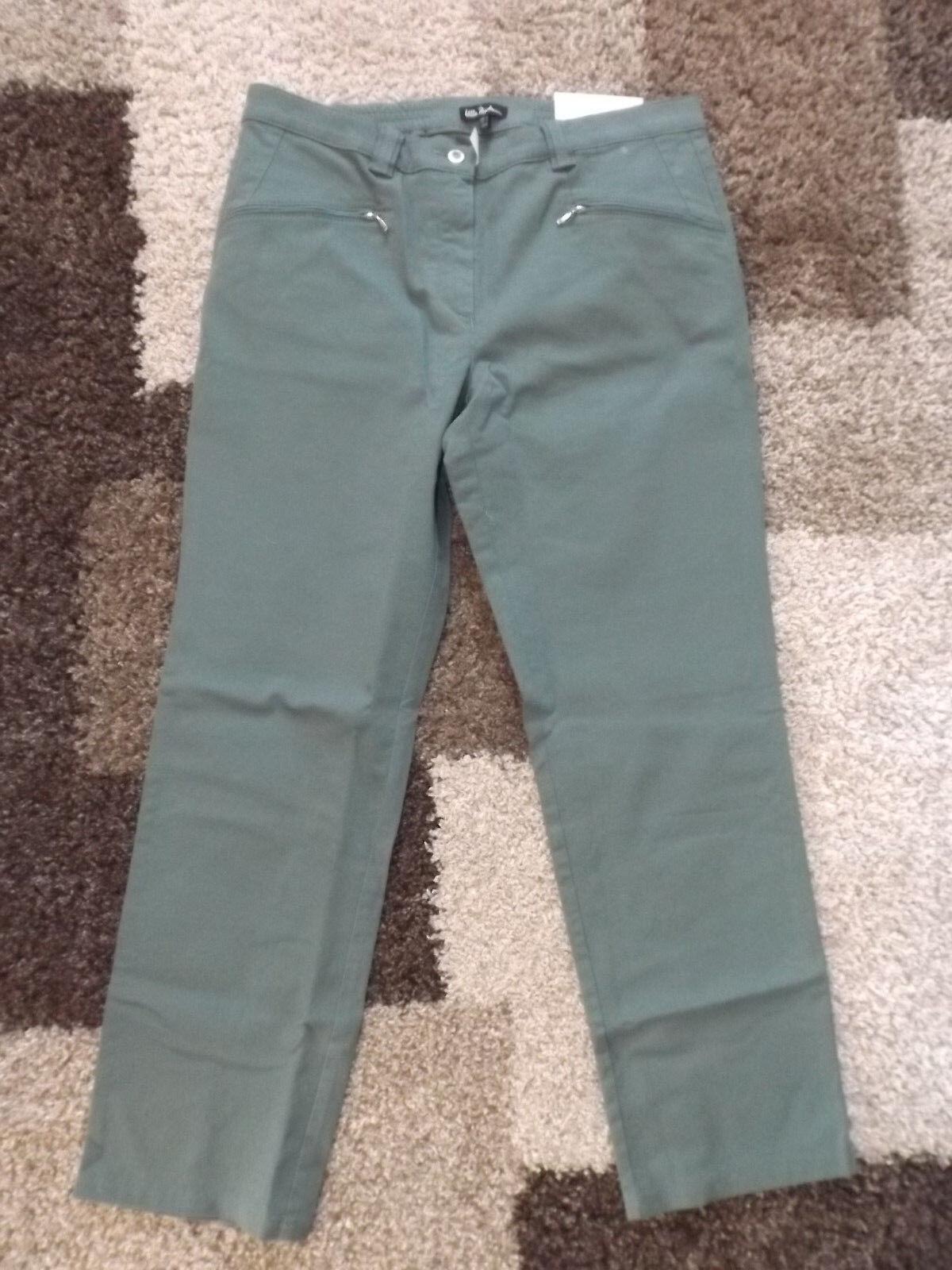 ULLA POPKEN  23 (46 kurz) green  Jeans Hose MONY  gerades Bein