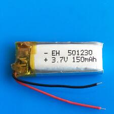 150mAh 3.7V Li Po Polymer Battery For MP3 GPS Headset Bluetooth Video Pen 501230