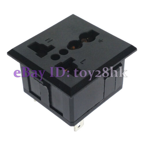10 x Universal Multi Outlet AC Power Socket Panel Receptacle Max AC250V 13A