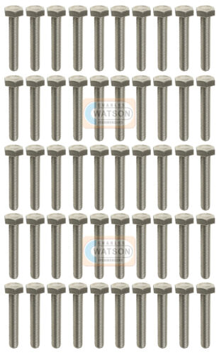 12mm Pack 50-M12X100 Hex Set Tornillo Cabeza Hexagonal Perno Roscado De Zinc BPZ de fijación