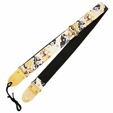 Aria Japan Guitar Strap Japanese Traditional Flower Pattern Sps-2000wb