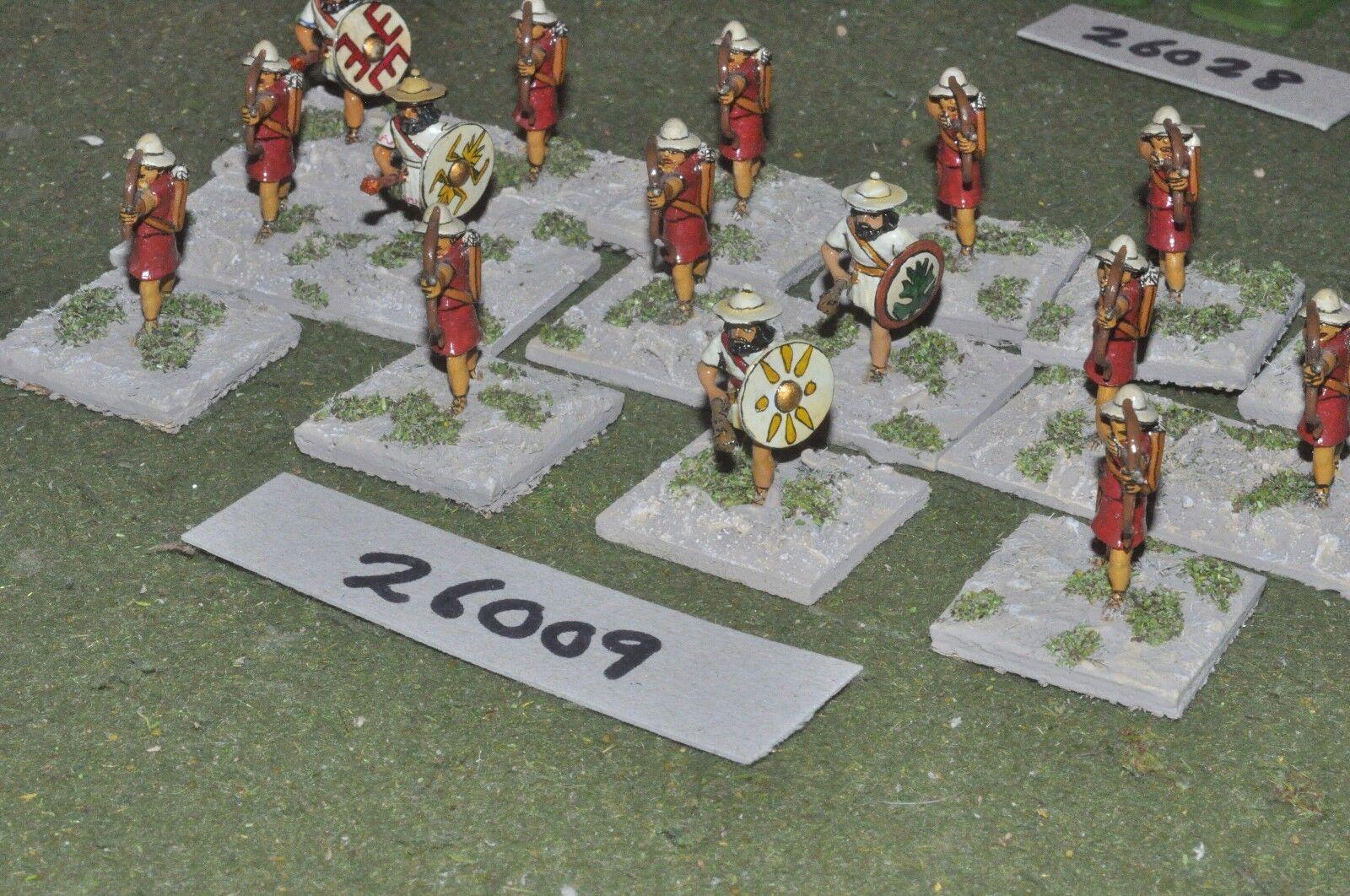 25mm classical   greek - skirmishers 16 figures - inf (26009)