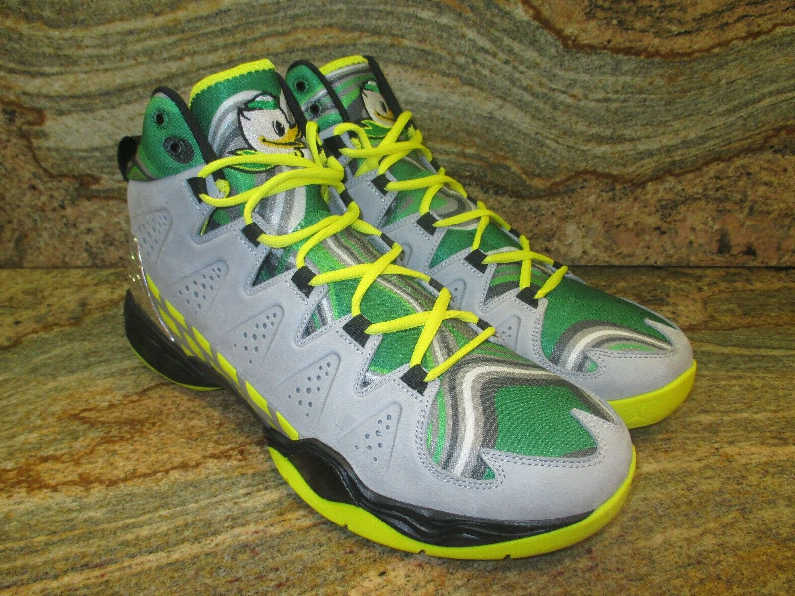 2014 Nike Air Jordan Melo M10 Oregon Duck PE SZ SZ SZ 13 Unreleased Promo Sample Retro f4ff6c