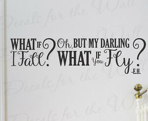 What If I Fall Erin Hanson Wall Art Decal Vinyl Quote Saying