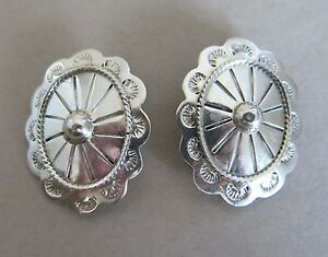 Sterling-Silver-Taxco-Earrings-Clip-Mexico-TB-48-21-8g-2513