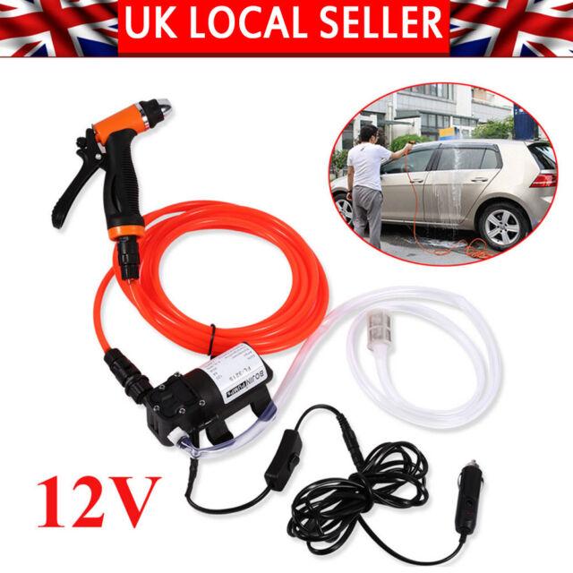 High Pressure Washer Wash Water Pump 12V 80W Kit Deck Car Camper Van UK SELLER