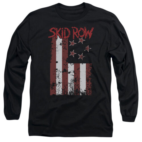 Skid Row Band FLAGGED Licensed Adult Long Sleeve T-Shirt S-3XL