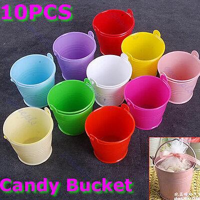 10Pcs Mini Cute Chocolate Bucket Candy Keg Wedding Party Favors Decoration DIY