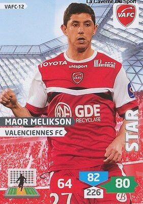 VAFC-12 MAOR MELIKSON # ISRAEL VALENCIENNES.FC CARD ADRENALYN FOOT 2014 PANINI