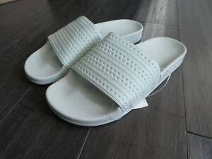 b182636b1a4 Adidas Adilette slides men s shoes new Made in Italy Linen Green ...
