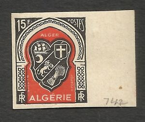 FRANCE-ALGERIA-Yv-271-imperforated-MNH-shield