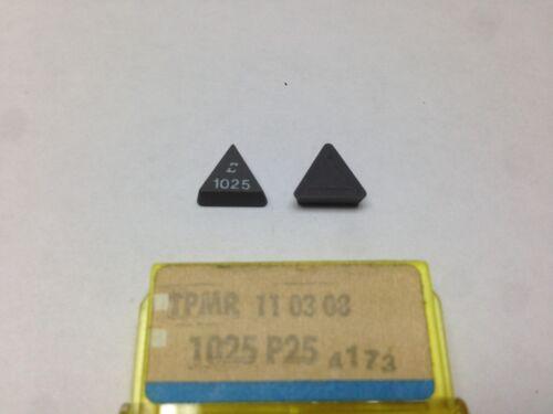 2 x SANDVIK Coromant TPMR 110308 1025 P25 Carbide Inserts New FLY CUTTER TPR