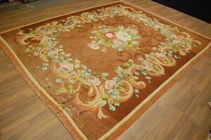Antiker-SOUVENIR-FRANKREICH-um-1850-ca-300x254cm-antique-rug-souvenir