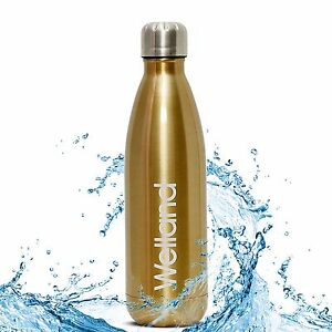 Hydro-Water-Bottle-Flask-Gold-17oz-Stainless-Steel-Tea-Juice-WELLAND