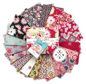 Riley-Blake-Paper-Daisies-Fat-Quarters-21pc-Quilting-Fabric-FQ-8880-21