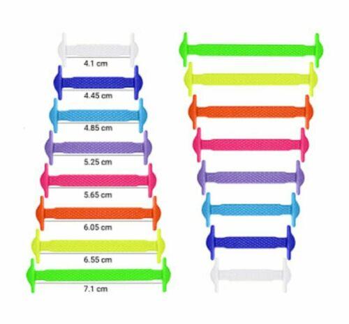 Rainbow Shoe Laces Trainers Shoelaces No Tie Elastic Laces For Adults /& Kids