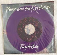 PRINCE AND THE REVOLUTION  SINGLE PURPLE RAIN / GOD PURPLE VINYL RARE