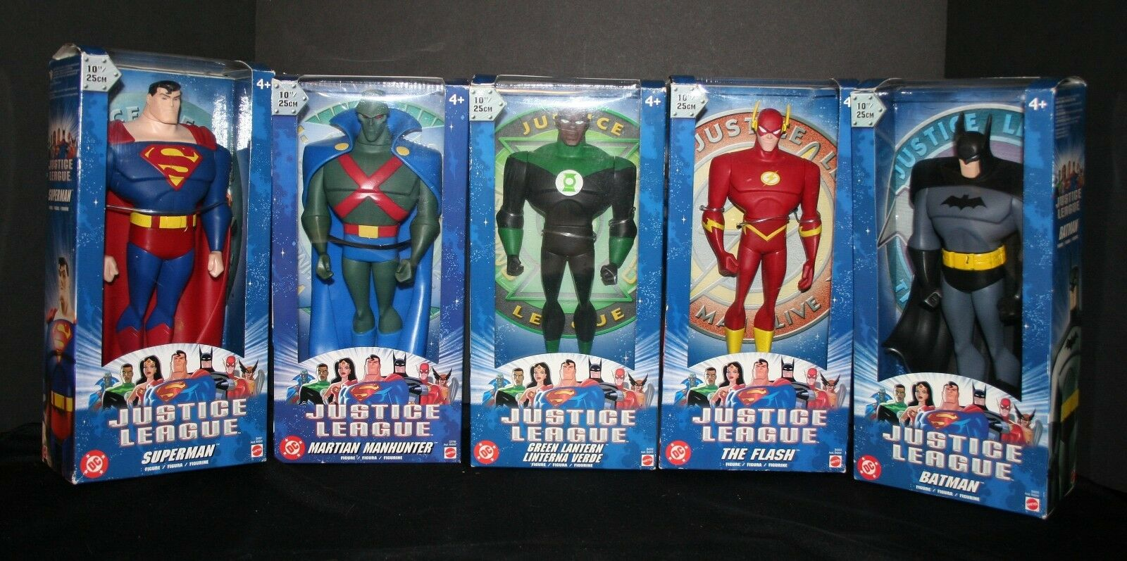2003 Justice League Action Figures Set DC Comics 10  Mattel Flash Batman martien