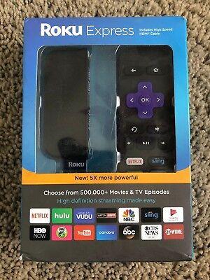 Media Streamer 3700R Roku Express Black 5th Generation