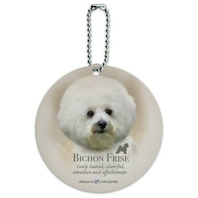 Canine Designs Set of 2 Bichon Frise Luggage Tags