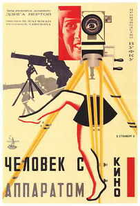 RUSSIAN-CAMERA-WITH-LEGS-Movie-POSTER-27x40-Man-w-the-Movie-Camera