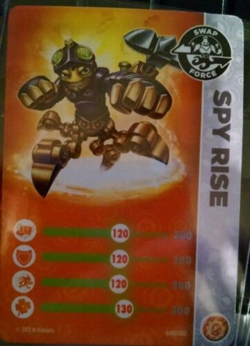 Spy Rise Skylanders Swap Force Stat carte uniquement!
