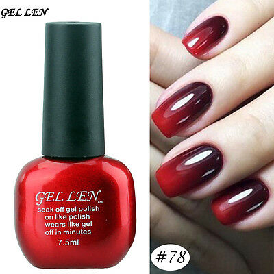 Soak off Temperature Color Change Gel Nail Polish UV Led Nail Art Lacquer 78