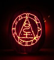 "Seal Of Metatron - SILENT HILL (Hand-Carved Foam Halloween Pumpkin Large 13"")"