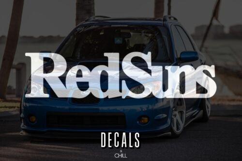 Red Suns Decal Sticker illest Lowered JDM Stancenation Hellaflush Initial D