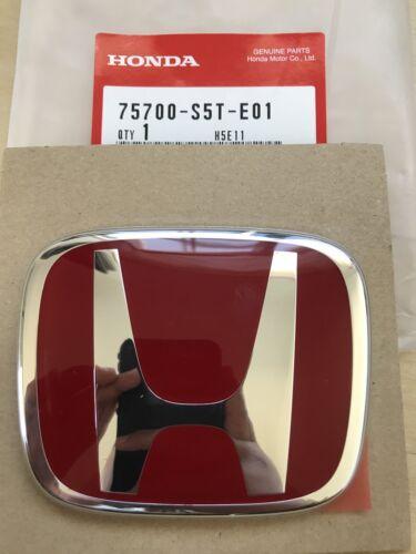 JDM EP3 FRONT RED EMBLEM 00-03 HONDA CIVIC NEW GENUINE OEM 75700-S5T-E01