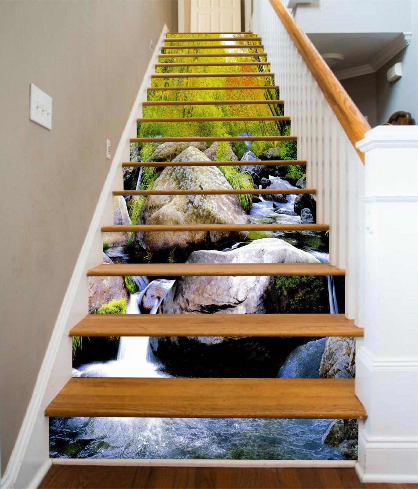 3D Forest Stone 026 Risers Decoration Photo Mural Vinyl Decal Wallpaper CA