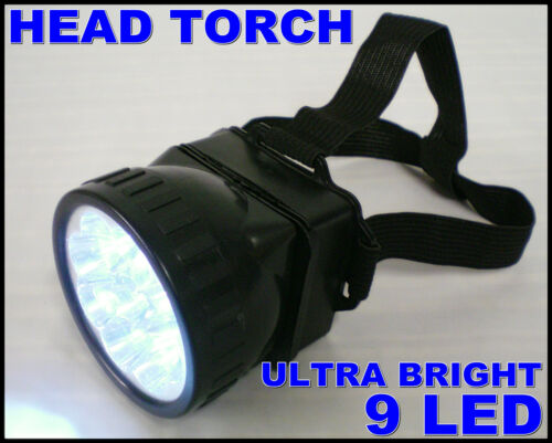 HEAD TORCH LIGHTS WORK LAMP LED RECOVERY AJUSTABLE STRAPS MINERS PLUMBERS BRIGHT