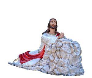 Christ-in-the-Garden-of-Gethsemane-fiberglass-statue-cm-115-x-230-glass-eyes