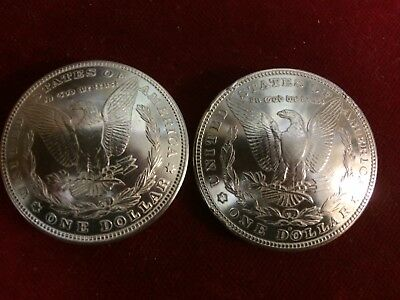 Post and screw real coin Concho: 1 US Morgan 1 Dollar Eagle Side,90/% Silver