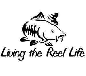 Cool fishing sticker vinyl funny decal skillet fish kayak reel salmon trout