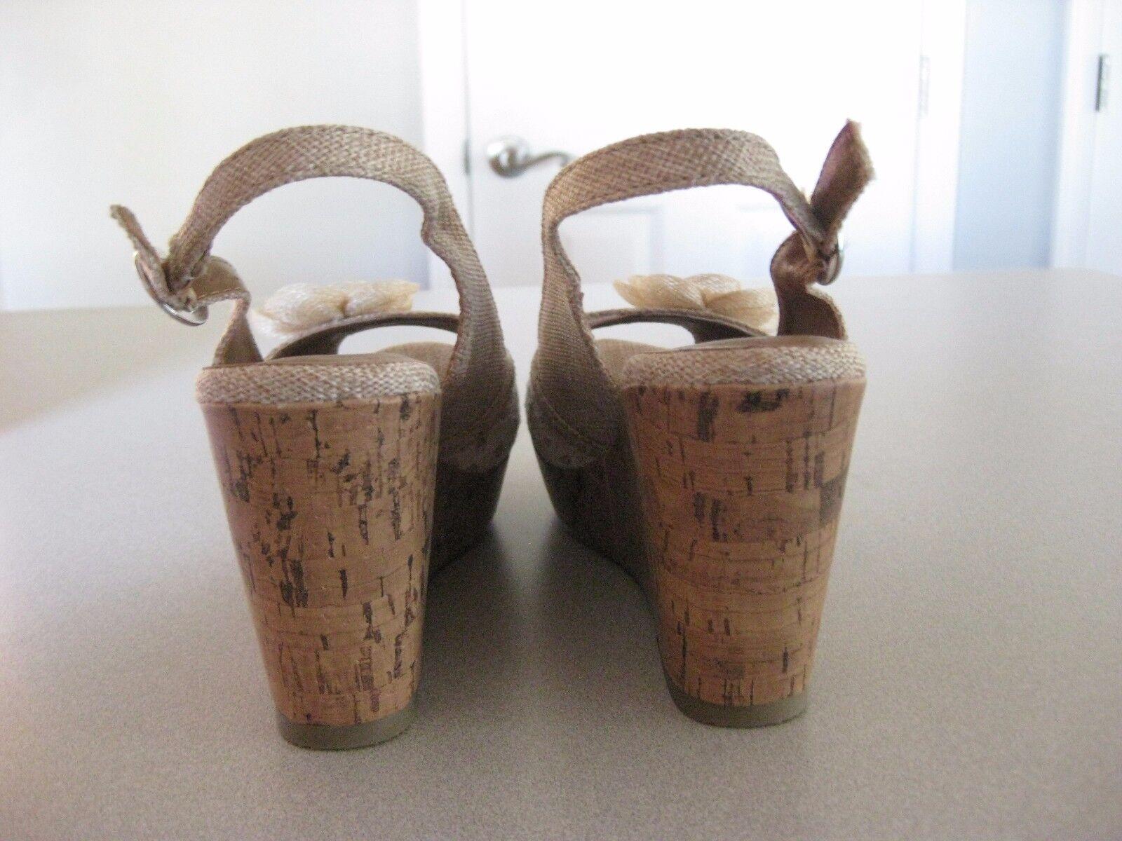 POP KALIE Wedge Wedge Wedge Heel Sandals   Farbe Labeled Natural   6.5   BNIB 6f2b39