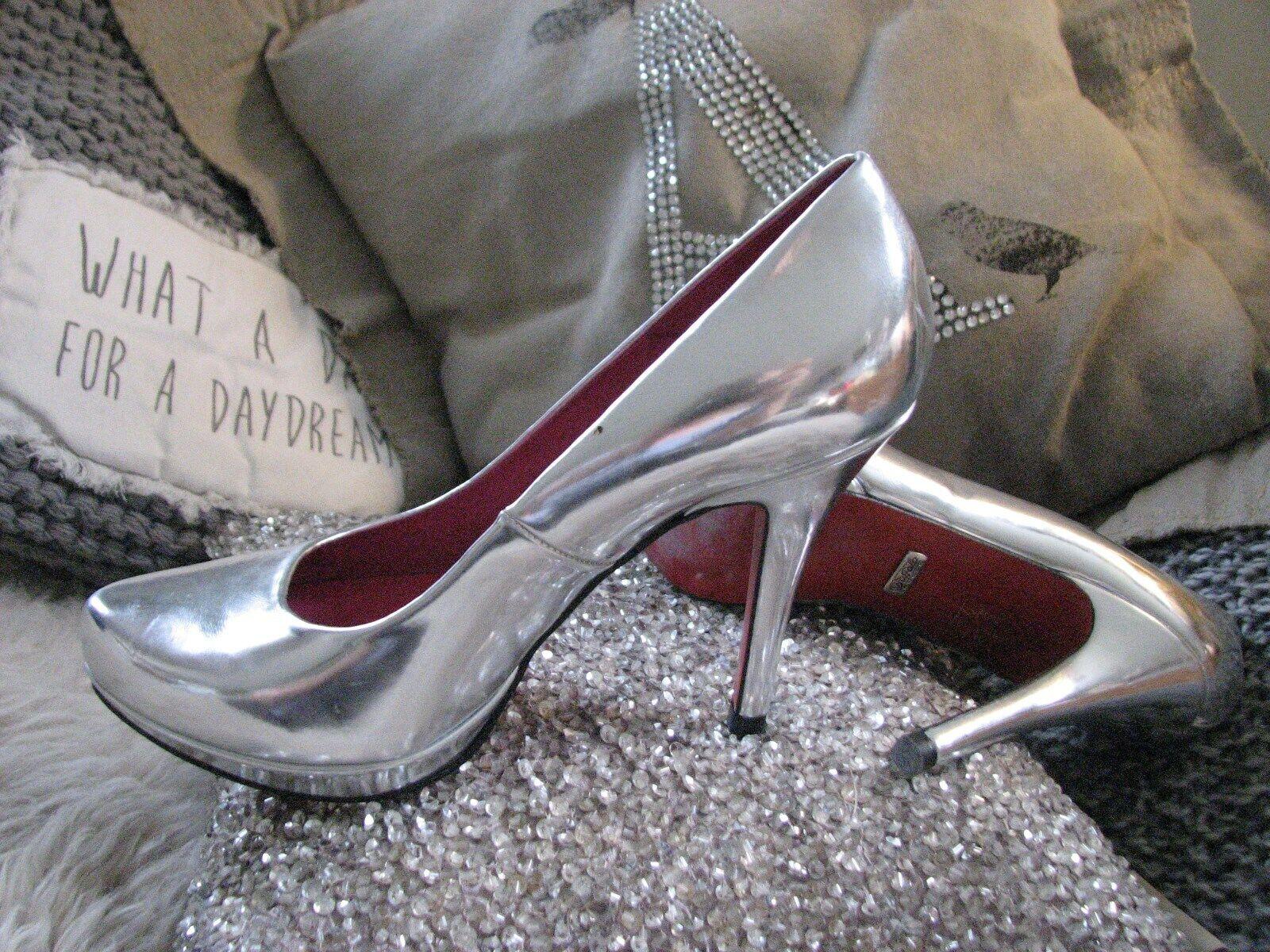 100% authentisch Elegant heels high Pumps Platou LONDON Rote