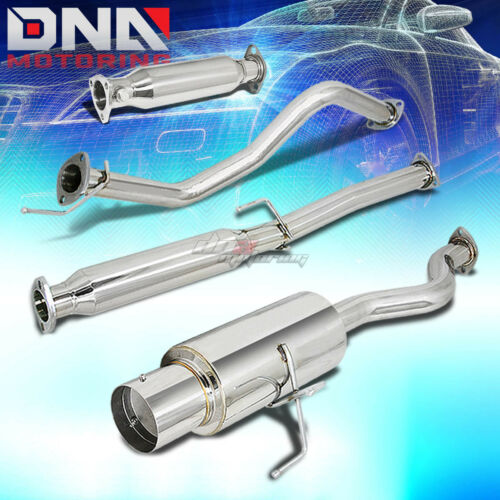 """FOR 94-01 INTEGRA DC4 DB7 4/""""TIP PERFORMANCE CATBACK+HIGH FLOW EXHAUST PIPE KIT"""