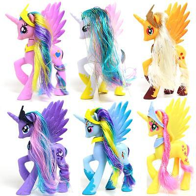Girls My Little Pony Figures 14cm Kids Playset Rainbow Dash Princess Celestia QualitäT Und QuantitäT Gesichert