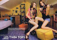 Coupure de presse Clipping 2008 Elena & Manuela les Twin Tops (4 pages)