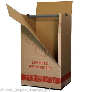 2 scatole cartone porta abiti capi appesi cm 50x60 x h for Scatole riponi abiti