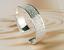 Bracelet-Femme-Manchette-en-Plaque-Argent-Mat-et-Brillant-Bijoux-des-Lys miniature 3