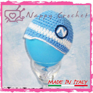 Napoli Crochet Baby Hat Cappellino A Uncinetto Neonato Bambino Idea